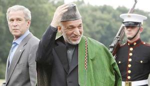 Bush y Karzai