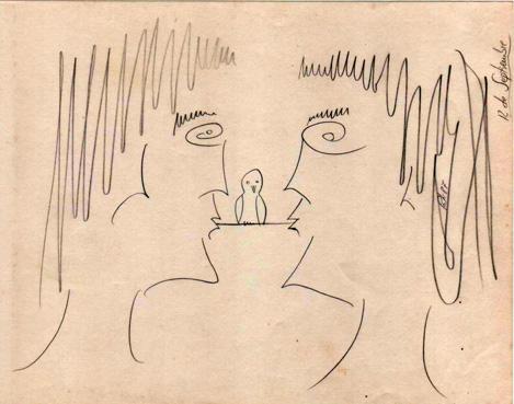 La pareja encantada /01/, 1987 (Dibujo: Paco Azanza Telletxiki)
