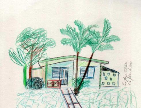 Casa de Levisa (Cuba), 2003 (Pintura: Paco Azanza Telletxiki)