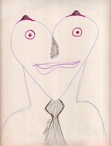Individuo enamorado, 1988  (Dibujo: Paco Azanza Telletxiki)