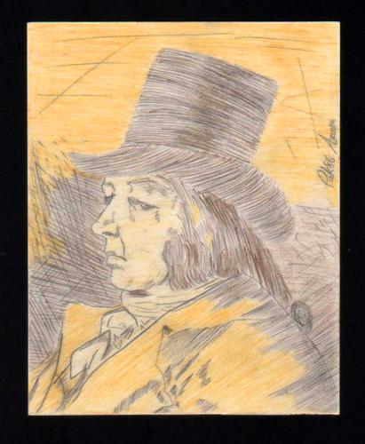 Francisco de Goya, reproducción, 1986 (Pintura: Paco Azanza Telletxiki)