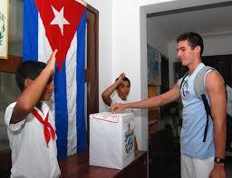 Ejerciendo el derecho al voto en Cuba
