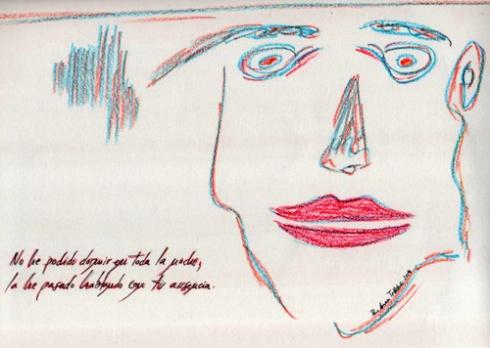 """""""Insomnio"""" (I), 2014 (Dibujo: Paco Azanza Telletxiki)"""