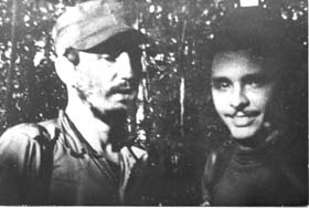 Fidel y Frank en la Sierra Maestra