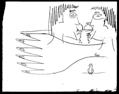 La pareja encantada / 04 (Dibujo: Paco Azanza Telletxiki)