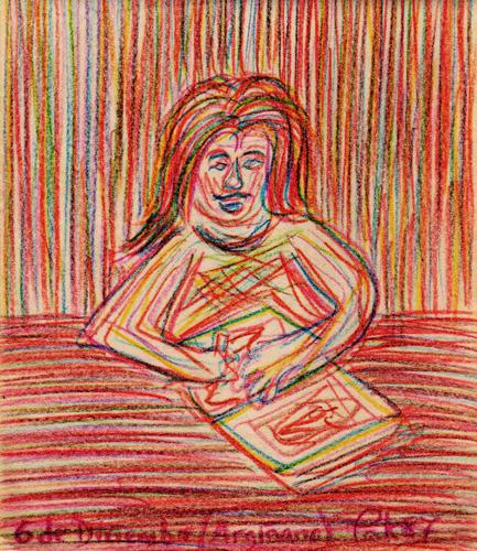 La escritora, 1978 (Dibujo: Paco Azanza Telletxiki)