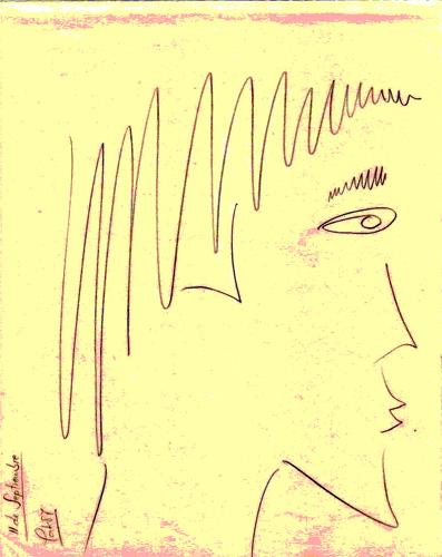 De perfil, 1987 (Dibujo: Paco Azanza Telletxiki)