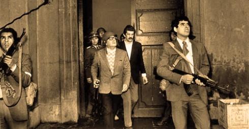 Salvador Allende en La Moneda, 11 de septiembre de 1973