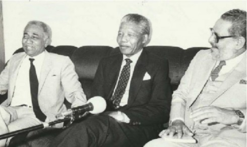 Juan Almeida, Nelson Mandela y Jorge Risket