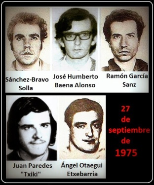 Los últimos fusilados de Franco