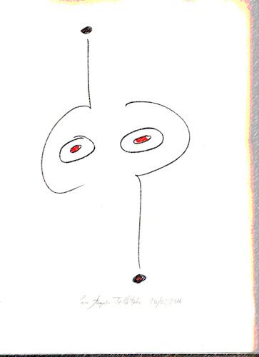 Autointerrogado (02), 2014 (Dibujo: Paco Azanza Telletxiki)