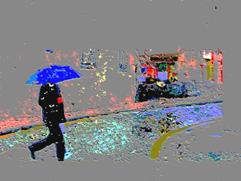 Paseante en día de lluvia, 2014 (Foto: Paco Azanza Telletxiki)