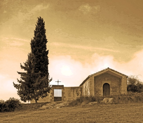 Ermita y cementerio de Argiñano, Nafarroa, 2015 (Foto: Paco Azanza Telletxiki)