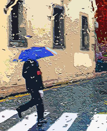 Paseante en día de lluvia, (02), 2014 (Foto: Paco Azanza Telletxiki)