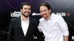 Garzón e Iglesias celebrando el 40 aniversario de El País