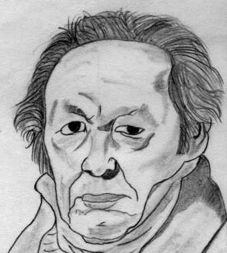 La mirada de Goya, 1986 (Dibujo: Paco Azanza Telletxiki)