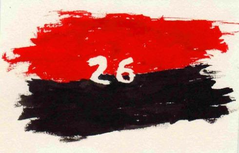 Bandera del Movimiento Revolucionario 26 de Julio (Pintura: Paco Azanza Telletxiki)