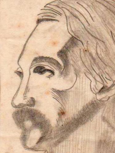 La mirada de Robert Louis Stevenson, 1986 (Dibujo: Paco Azanza Telletxiki)