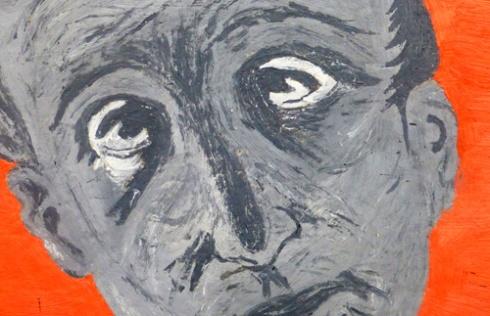 Bombardeado por la incultura (detalle), 1987 (Pintura: Paco Azanza Telletxiki)