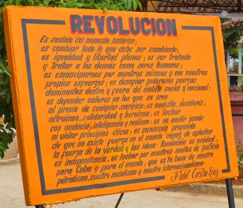 Concepto de Revolución expresado por Fidel (Foto: Paco Azanza Telletxiki, 2010)