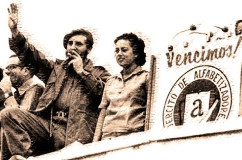 Fidel en la proclamación del fin del analfabetismo en cuba-22-de diciembre de 1961