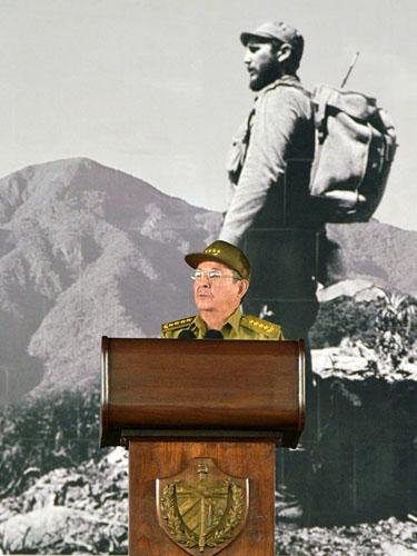 Raúl discursando el pasado 3 de diciembre en Santiago de Cuba