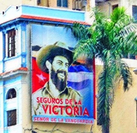 Cartel de Camilo Cienfuegos en Santiago de Cuba, 2010 (Foto: Paco Azanza Telletxiki)