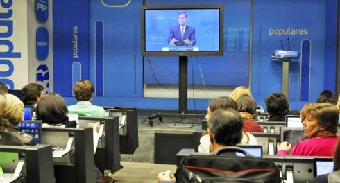 Rajoy en plasma